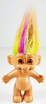 "Troll Doll Rainbow Naked with Rainbow Hair by Bright of America 4.5"" tal... - $43.01"