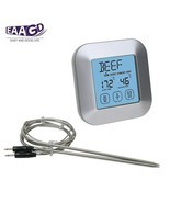 BBQ Thermometer Smoker Grilling Touch Screen Digital Timer 2 Stainless P... - $32.07 CAD