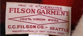 Vtg Filson Men Buffalo Plaid Wool Lined Shearling Jacket 50 Made USA Coat Packer image 2