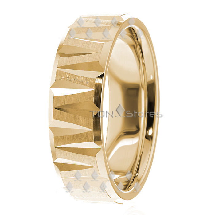 14K SOLID GOLD MENS WEDDING BAND RING 14K YELLOW GOLD MANS WEDDING BANDS RINGS