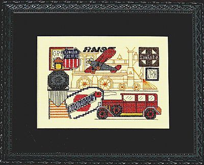 Transportation cross stitch chart Bobbie G Designs