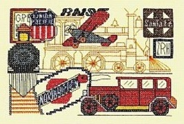 Transportation cross stitch chart Bobbie G Designs image 2