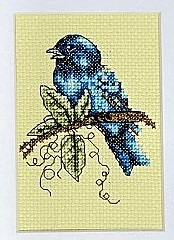 Indigo Splendor bird cross stitch chart Bobbie G Designs image 2