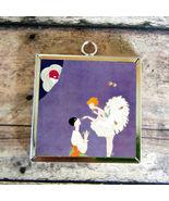 2X Deco BALLET DANCER Glass Charm Pendant Necklace - $15.54