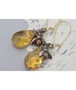 Honey Bee Jewelry - Honey Bee Earrings - Bee Charm - Honey Glass - Woodl... - $26.00