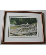 ON THE MOVE by LISSA CALVERT Signed Offset Lithograph Framed 957/3790 Wo... - $36.37