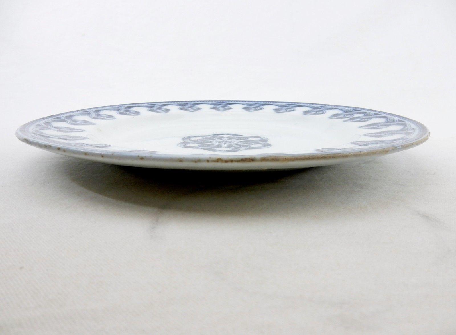 """Flow Blue Italie 10"""" Dinner Plate by Brown, Westhead,Moore & Co Vintage Plate"""