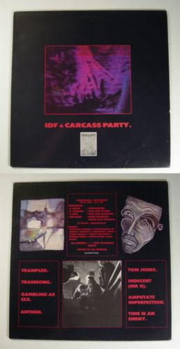 IDF Carcass Party ATAVISTIC LP industrial/punk/goth