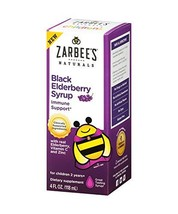 Zarbee's Naturals Children's Black Elderberry Syrup for Immune Support* ... - $14.62