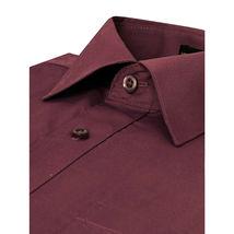 Omega Italy Men's Burgundy Dress Shirt Long Sleeve Regular Fit w/ Defect - XL image 4