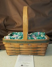Longaberger 1993 LARGE STAINED EASTER BASKET #13439 With Liner & Protector - $29.95
