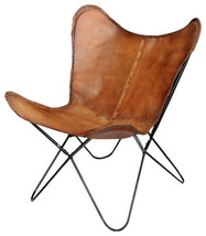 """Elite Butterfly Leather Chair 29""""x29""""x33"""" - $250.11"""
