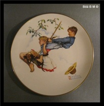 10 1/2 Inches Norman Rockwell Collectors Plate By Gorham 1972   Summer  Flying H - $45.00