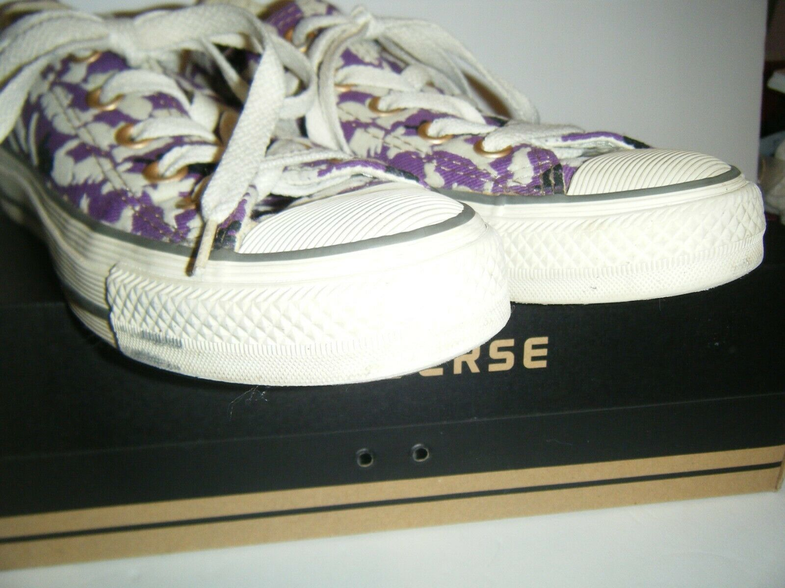 Converse All Star Tennis Shoes Mens 3 Womens 5 Ox Bunny Rabbit Purple Flocked image 9