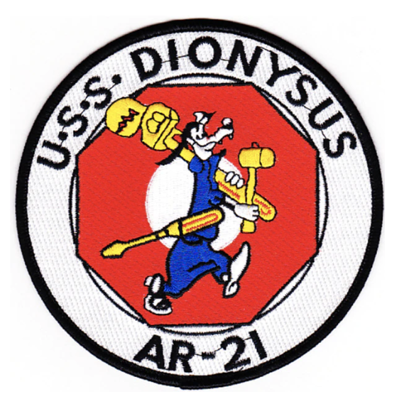 "Primary image for 5"" NAVY AR-21 USS DIONYSUS EMBROIDERED PATCH"
