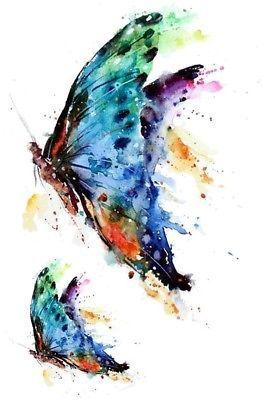 020ba3e1f76de 1. 1. WYUEN 5 Sheets Butterfly Body Art Temporary Tattoo Sticker For Men  Women Fake