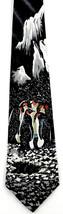 Snow Penguins Men's Neck Tie Aquatic Sea Bird Animal Black Novelty Necktie - $15.79