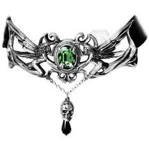 La Fleur de Baudelaire Fairy Skull Velvet Choker Necklace Alchemy Gothic P517 - $64.90