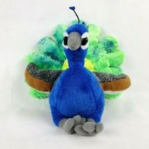 "Wild Republic Peacock 11"" Plush Bird Blue Green Stuffed Animal Toy - $25.39"