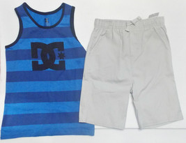DC Shoes Boys 2pc Shorts and Sleeveless Tank Shirt Out Fit Sizes 4 5 6  ... - $21.59