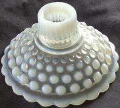 Antique Anchor Hocking Moonstone Candlestick Holder – VGC – CLEAR OPALES... - $9.89