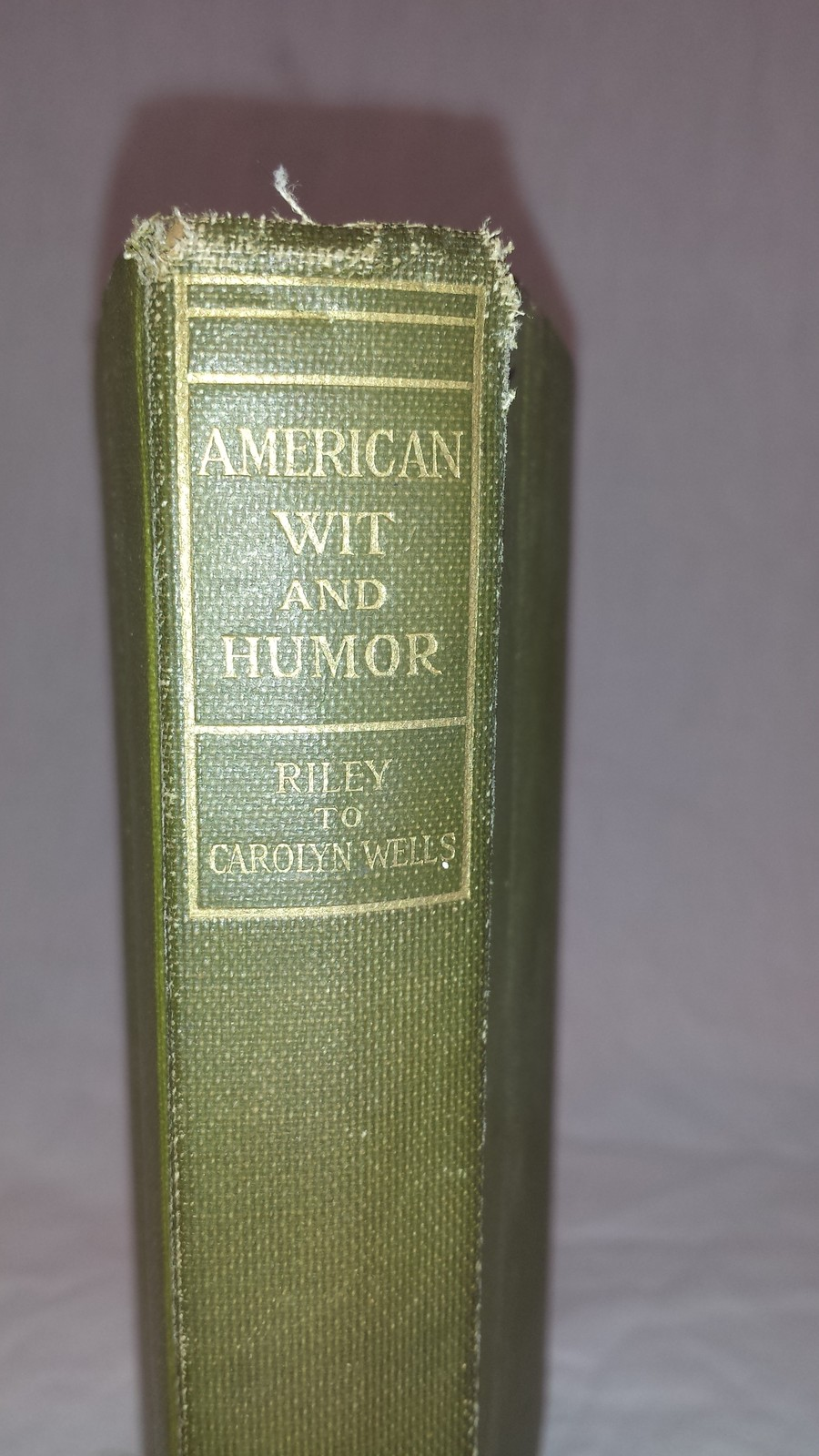 American Wit and Humor Book 1907 Riley to Carolyn Wells image 2