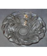 Old Vintage Heavy Crystal Deep Press Cut Leaf P... - $19.95