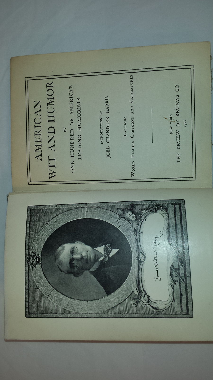 American Wit and Humor Book 1907 Riley to Carolyn Wells image 3