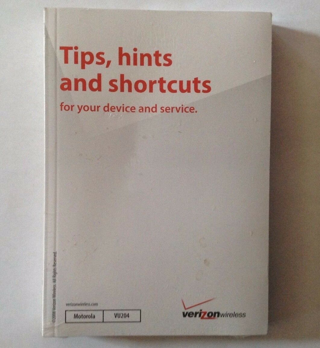 Primary image for Verizon Motorola MOTO VU204 Cell Phone User Guide Manual & Tips,Hints, Shortcuts
