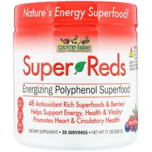 Country Farms Super Reds Energizing Polyphenol Superfood, Berry Flavor, ... - $26.99