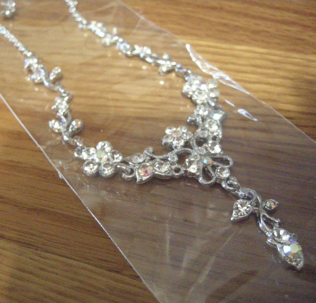 Swarovski Chrystal Flower Necklace Earrings Bonanza