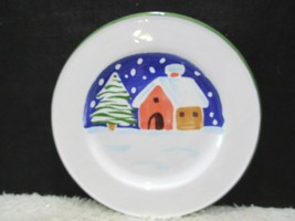 Lillian Vernon, Made In Italy, Porcelain Plate, House In The Snow, Colle... - $12.95