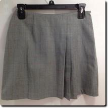 Express Gray Plaid Asymmetrical Pleated Skirt 3/4 - $14.50