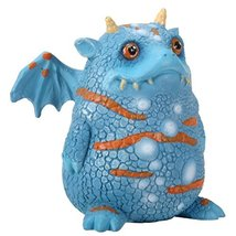 "YTC 2.75"" Blue and Orange Proggle The Fat Little Clueless Dragon Figurine - $14.63"