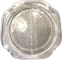 "Vintage Crystal Madrid Federal Glass divided plate; 10 1/2"" - $14.95"