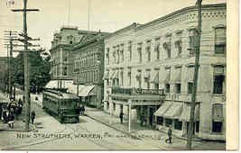 New Struthers Hotel Warren Pennsylvania Vintage Post Card - $7.00