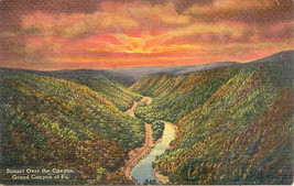Grand Canyon of Pennsylvania Wellsboro Pennsylvania Post Card - $5.00