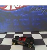 Hot Wheels 2010 Mystery Car 228 Hyundai Spyder Concept Flat Black PR5/gold - $4.20