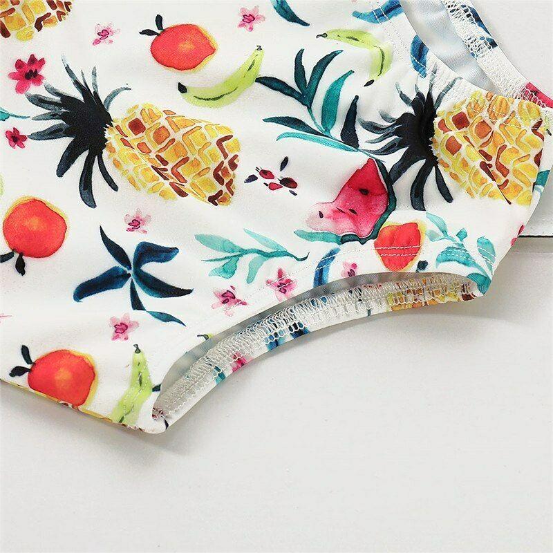 1-5Years Toddler Kids Baby Girls Fruit Print Swimwear Summer Beach Clothes One