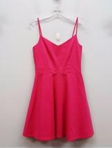 JOIE Size S Pink Spaghetti Strap VNeck Woven Skater Dress - $115.00