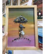 Pebble Painting, Pebble Art, Wall Painting, Wall Art, Mom and Son Painti... - $39.50