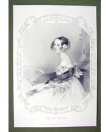 QUEEN VICTORIA'S Court Beauty The Lady Ashley - SUPERB Print Engraving - $27.72