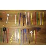 Lot Of Approx 33 Vintage Drink Swizzle Sticks Hotels Restaurants Bars - $29.99