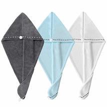 Hair Towel Wrap Turban Microfiber Hair Drying Towels, Quick Magic Hair Dry Hat C image 8