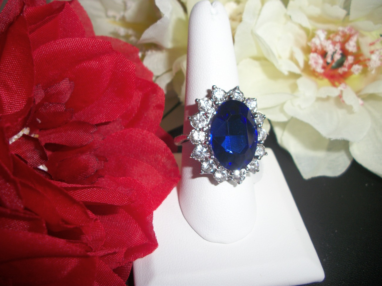 Primary image for Royal Princess Zircon Sapphire Engagement Wedding Ring Size 7