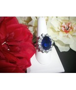 Royal Princess Zircon Sapphire Engagement Wedding Ring Size 7  - $14.99