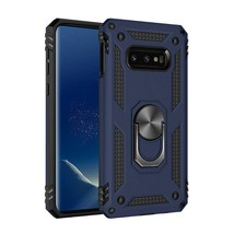 S10 Case with Kickstand - Samsung Galaxy S10 Case Magnetic Metal Back Ri... - $12.99