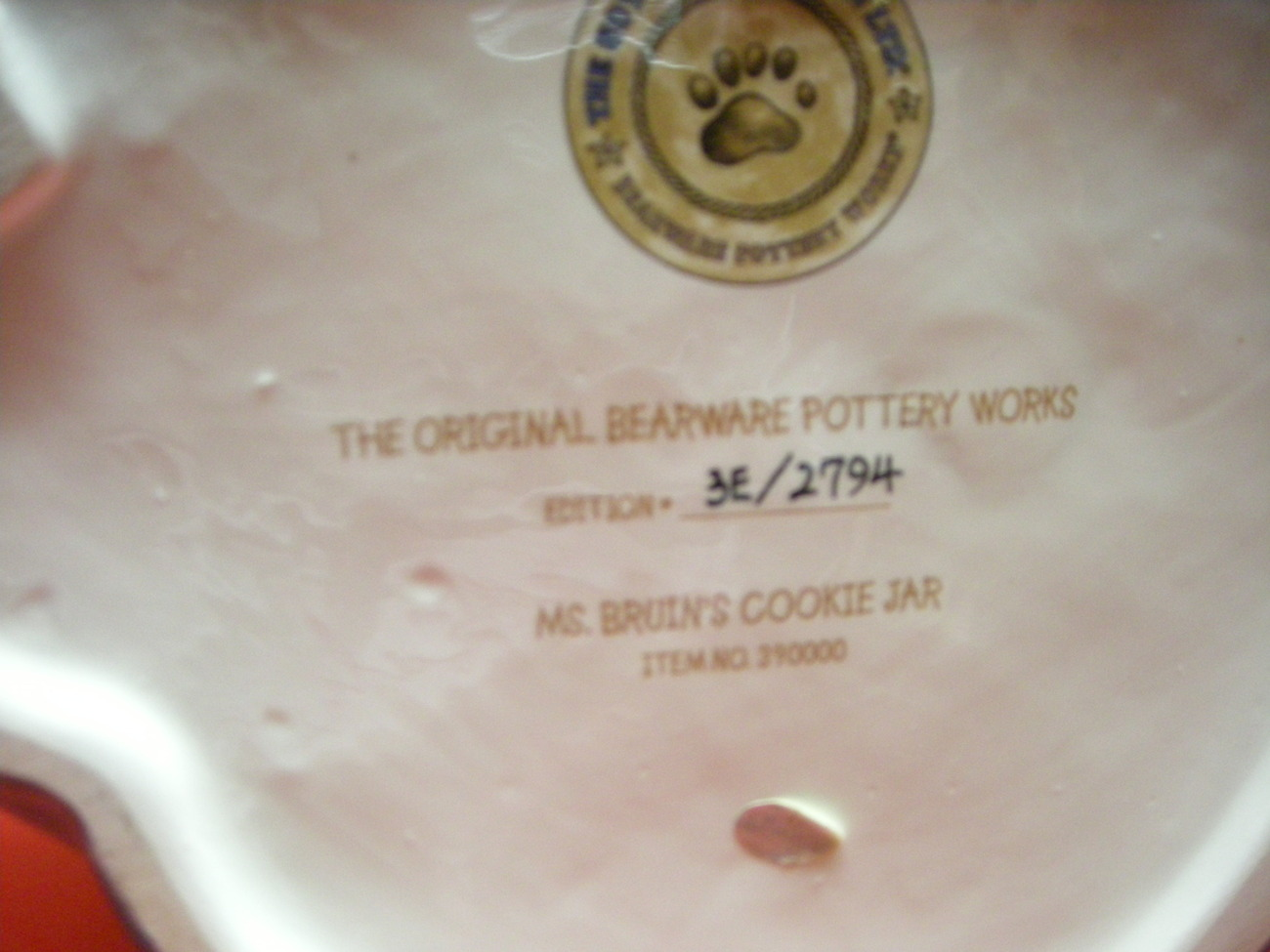 Boyds Bear Ms Bruins Cookie Jar. The Boyds collection LTD.