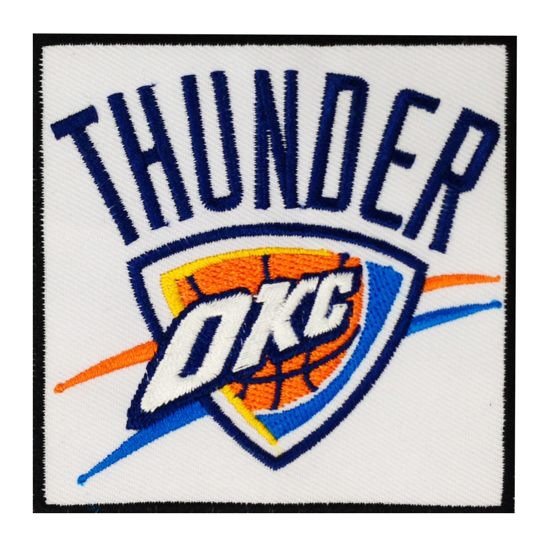 Oklahoma city thunder logo embroidered iron patches