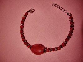 Agate Silver Bead Bracelet Pink - $11.50